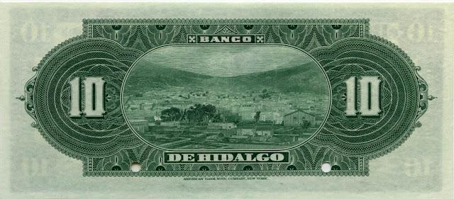 Billete Diez Pesos Mexicanos