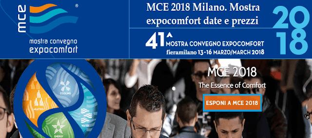 MCE Milano 2018 | Mostra convegno expocomfort date e prezzi