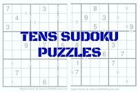 Main Page which list all the Tens Sudoku Puzzle Types