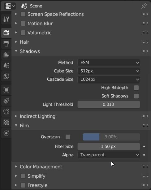 Blender Properties Panel