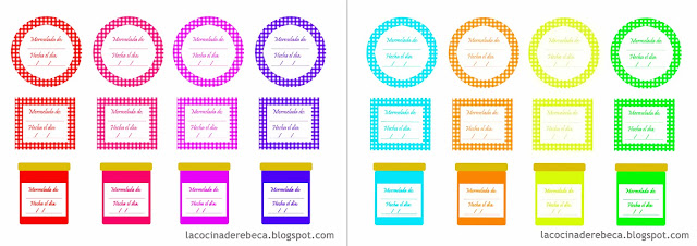 Freebie: Etiquetas para tarros de mermelada
