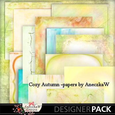 Scrapbooking papers  about autumn