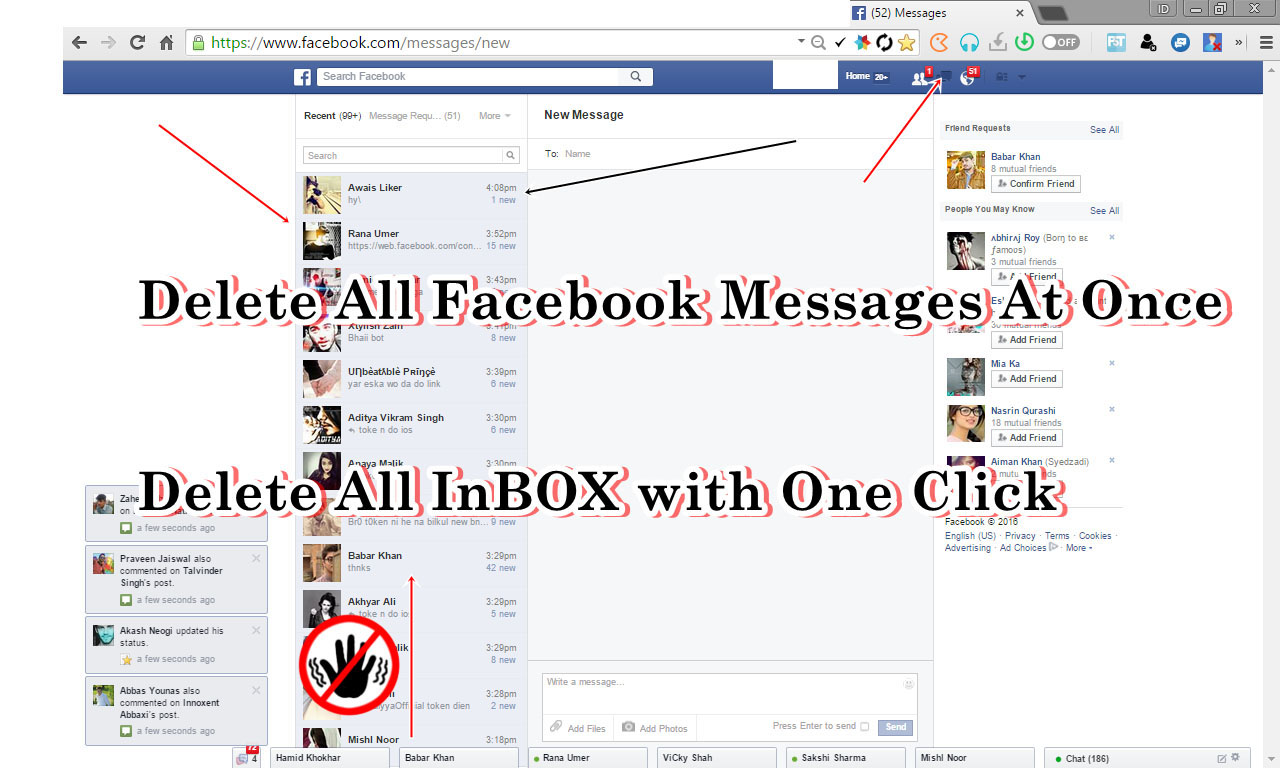 She Can Use Now Itself So It Is First Removed From Their Conversation, But  Facebook How To Delete