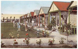 The Chalets, Butlins Holiday Camp, Skegness - Valentine's G.7241. Postally unused and undated