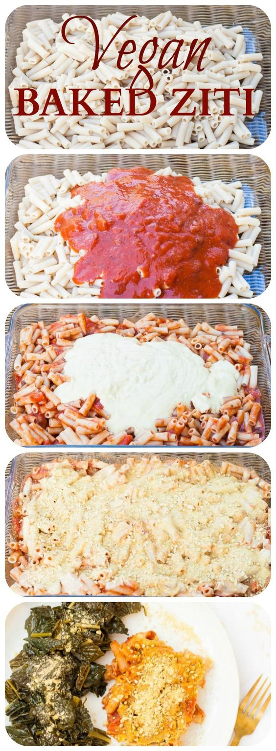 VEGAN BAKED ZITI WITH CASHEW CHEESE