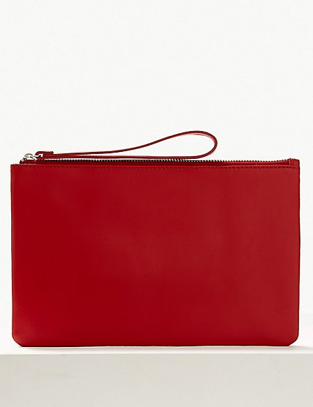 marks and spencer leather clutch purse