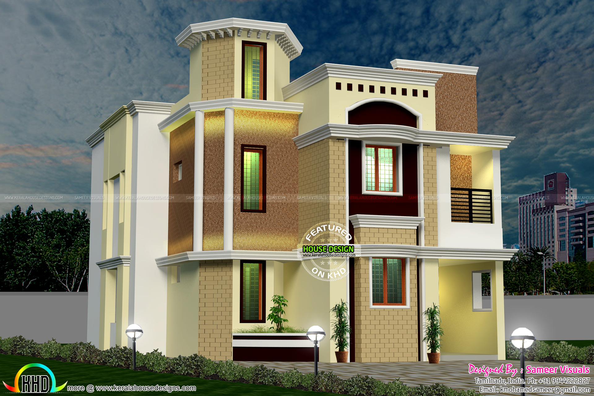 South indian modern home kerala home design and floor plans Indian modern house