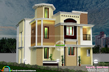 South Indian Modern Home - Kerala Design And Floor Plans