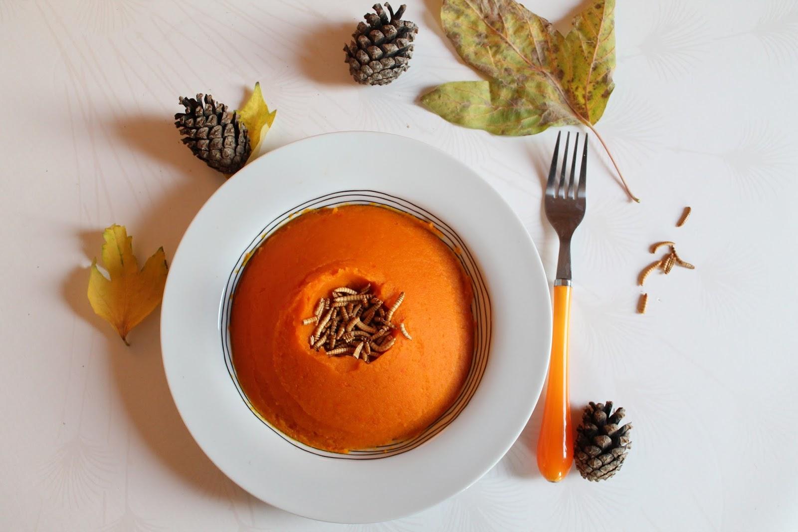 jimini's cuisiner insectes molitors purée potiron potimarron