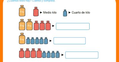 5 de primaria ceip andalucia kilo medio kilo y cuarto for Un cuarto de kilo