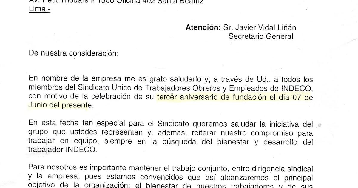 Frase De Aniversario Laboral: SINDICATO UNICO DE TRABAJADORES OBREROS Y EMPLEADOS DE