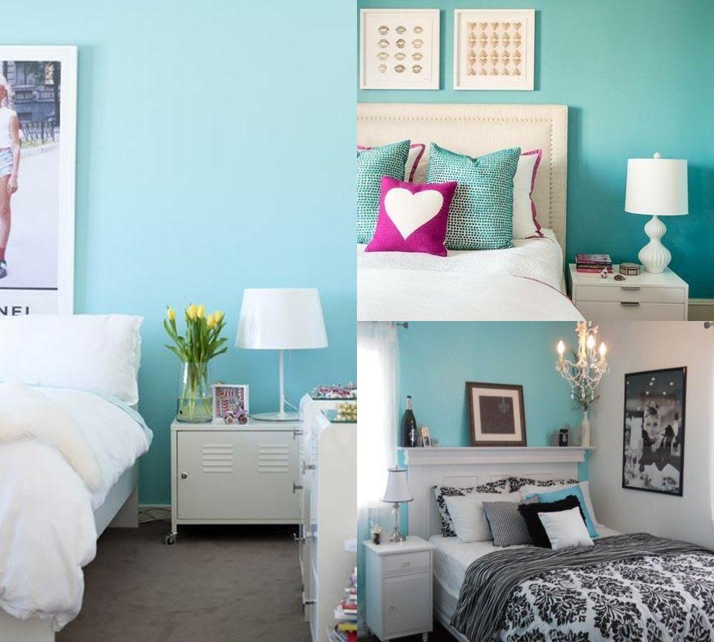 Papel de parede para quarto azul turquesa - Azul turquesa pared ...