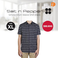 Dusdusan Salt N Pepper Simply Short Sleeve Shirt Size XL Black ANDHIMIND