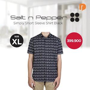 Salt N Pepper Simply Short Sleeve Shirt Size XL Black