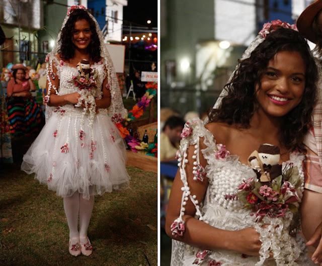 Lilica   (Thaina Duarte ), figurino festa junina, I Love Paraisópolis