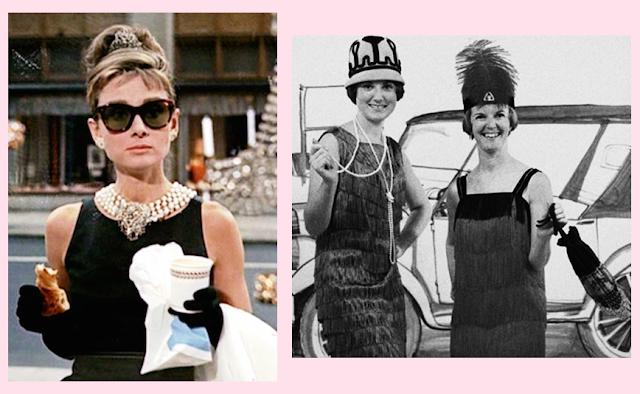 Audrey Hepburn e melindrosas dos anos 20