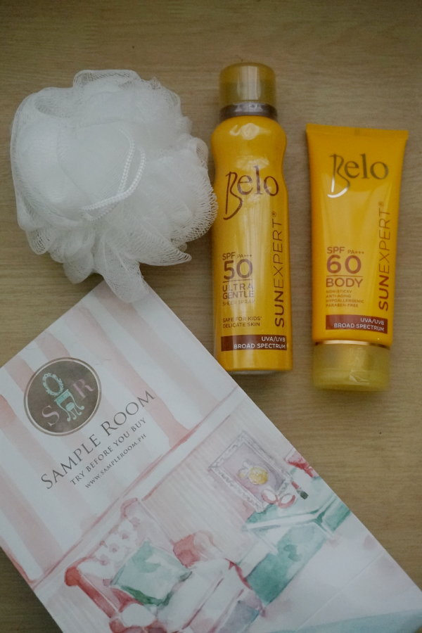 Belo SunExpert Sunbrella, Body Shield, Ultragentle Sheer Spray, from Sample Room Ph