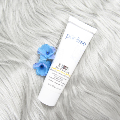 purlisse blue lotus essential daily moisturizer - the beauty puff