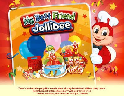 Jollibee Party Package - My Bestfriend Jollibee