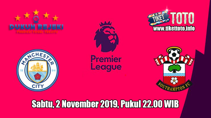 Prediksi Manchester City VS Southampton 2 November 2019