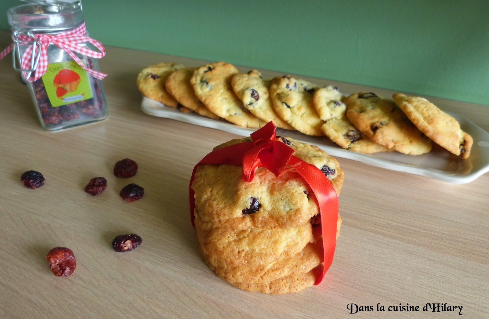 Cookies aux cranberries