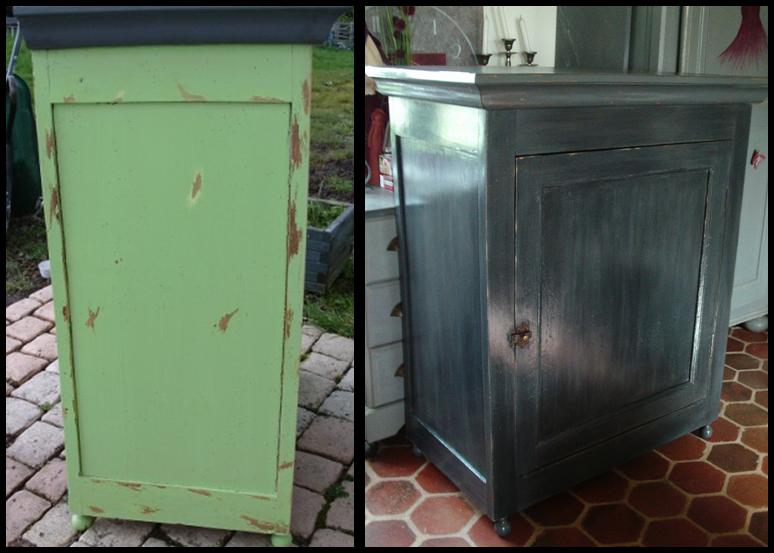 Relooker un confiturier patin gris cours peinture for Decaper meuble peint