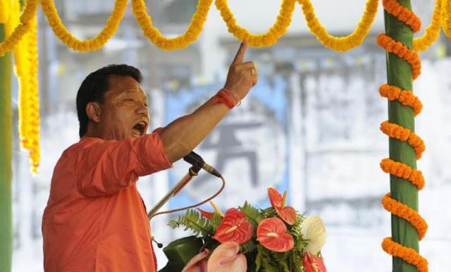 Angry Bimal Gurung GJM chief