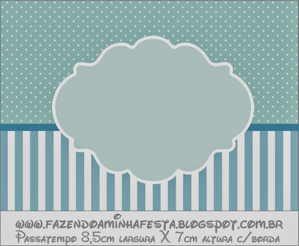 Light blue and white stripes and polka dots free printable - Rayas horizontales ...