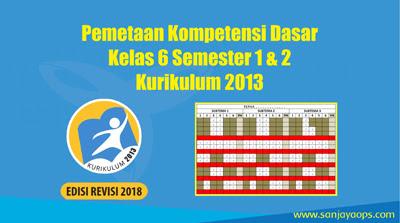 Download Pemetaan kd kelas 6 semester 1 dan 2 tahun 2019/2020