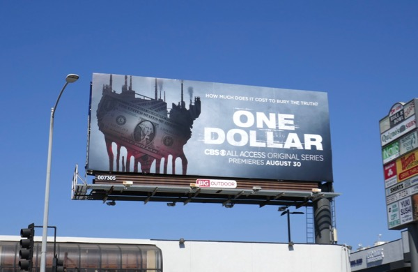 One Dollar series premiere billboard