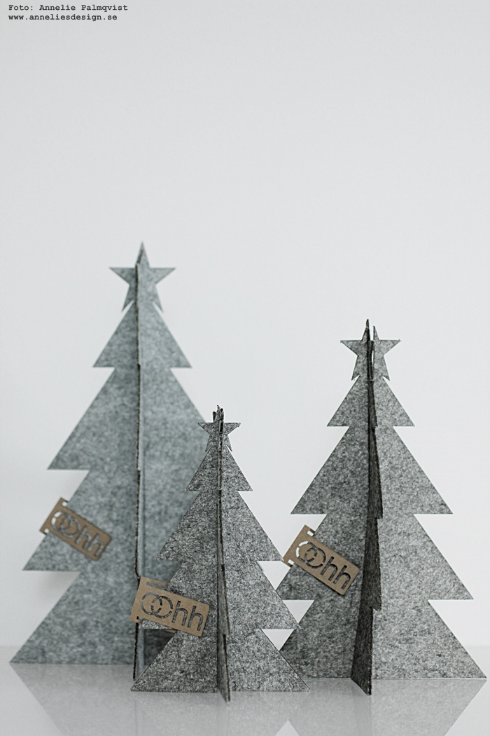 Oohh granar, gran, annelies design, webbutik, webshop, nätbutik, nätbutiker, jul, julen, julpynt 2016, svart och vitt, stilrent, stilrena, stilren, grå, gråa, grått, Oohh,
