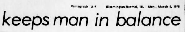 Frank Hersman Normal Illinois 1978 newspaper article