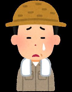 農家の男性のイラスト(泣いた顔)
