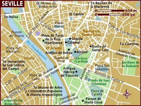 mapa de sevilha espanha AnaViaja: Dicas de Roteiro : 2 dias em Sevilha, Espanha mapa de sevilha espanha