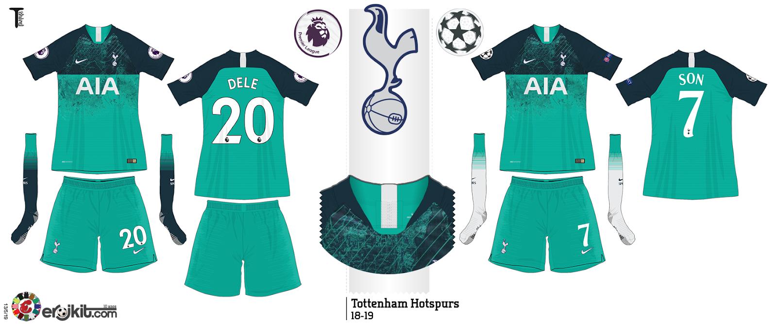 Kit Design By Eroj 2018 19 Tottenham Home