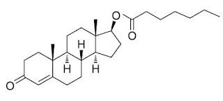 formula estrutura quimica heptilato testosterona