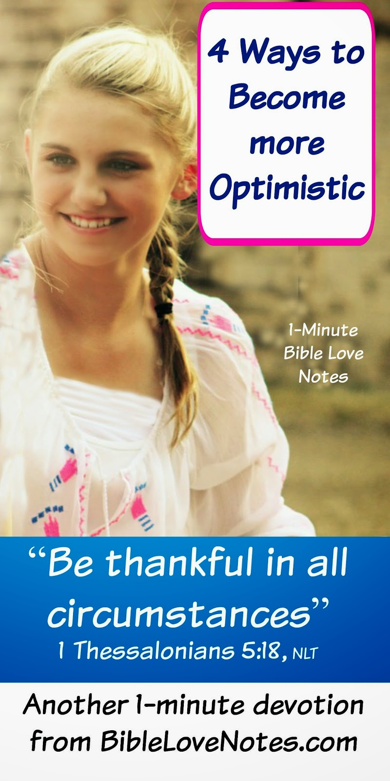 4 secrets of optimism, be thankful, Biblical Happiness