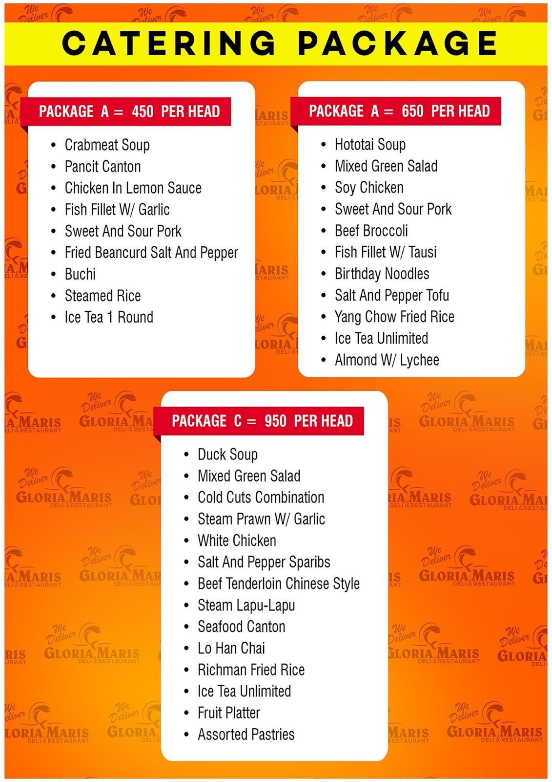 Metro Fish And Seafood Menu