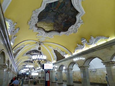 Moskwa, stacja metra, metro,