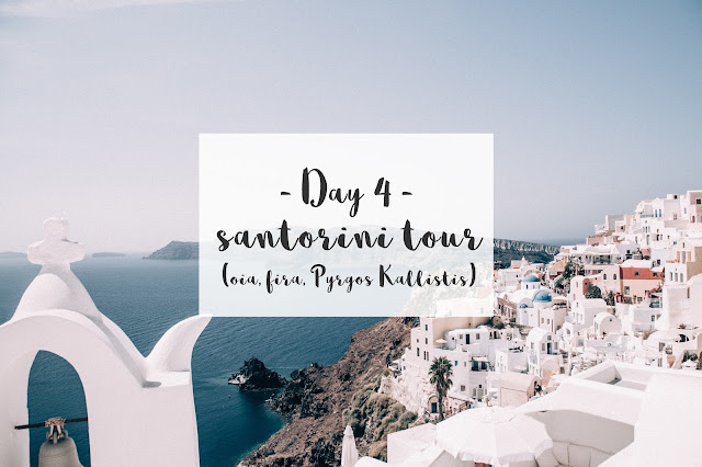 TRIP IN GREECE : LES CYCLADES - TOUR DE SANTORIN