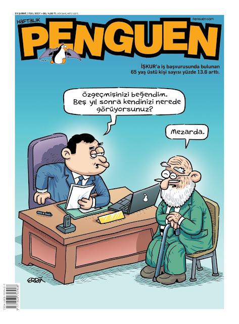 Penguen Dergisi | 23 Şubat 2017 Kapak Karikatürü