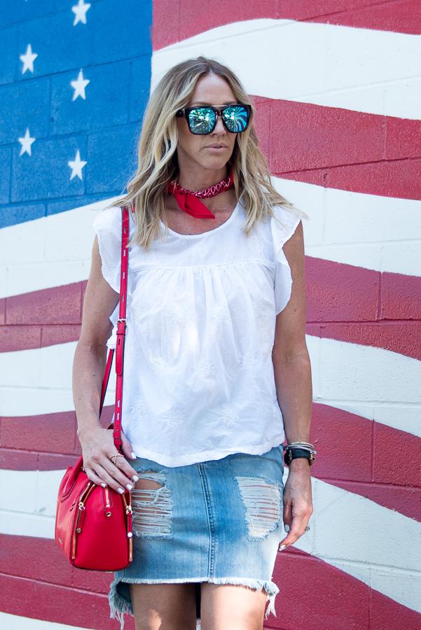 simple patriotic fashion style