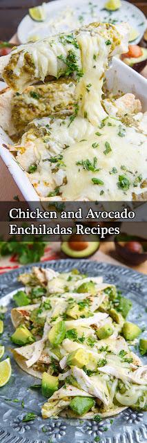 Chicken and Avocado Enchiladas Recipes
