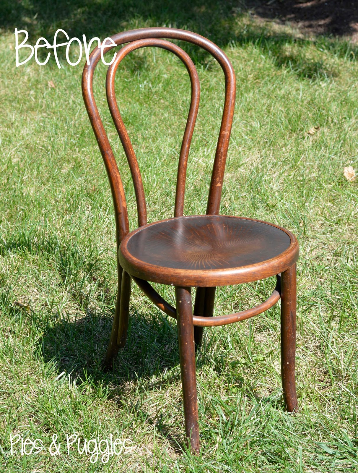 Vintage Bentwood Chairs Desk Chair Platform Pies And Puggles Before After Diy Dipped