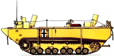 Немецкий гусеничный бронированный паром Panzerfähre\PzF