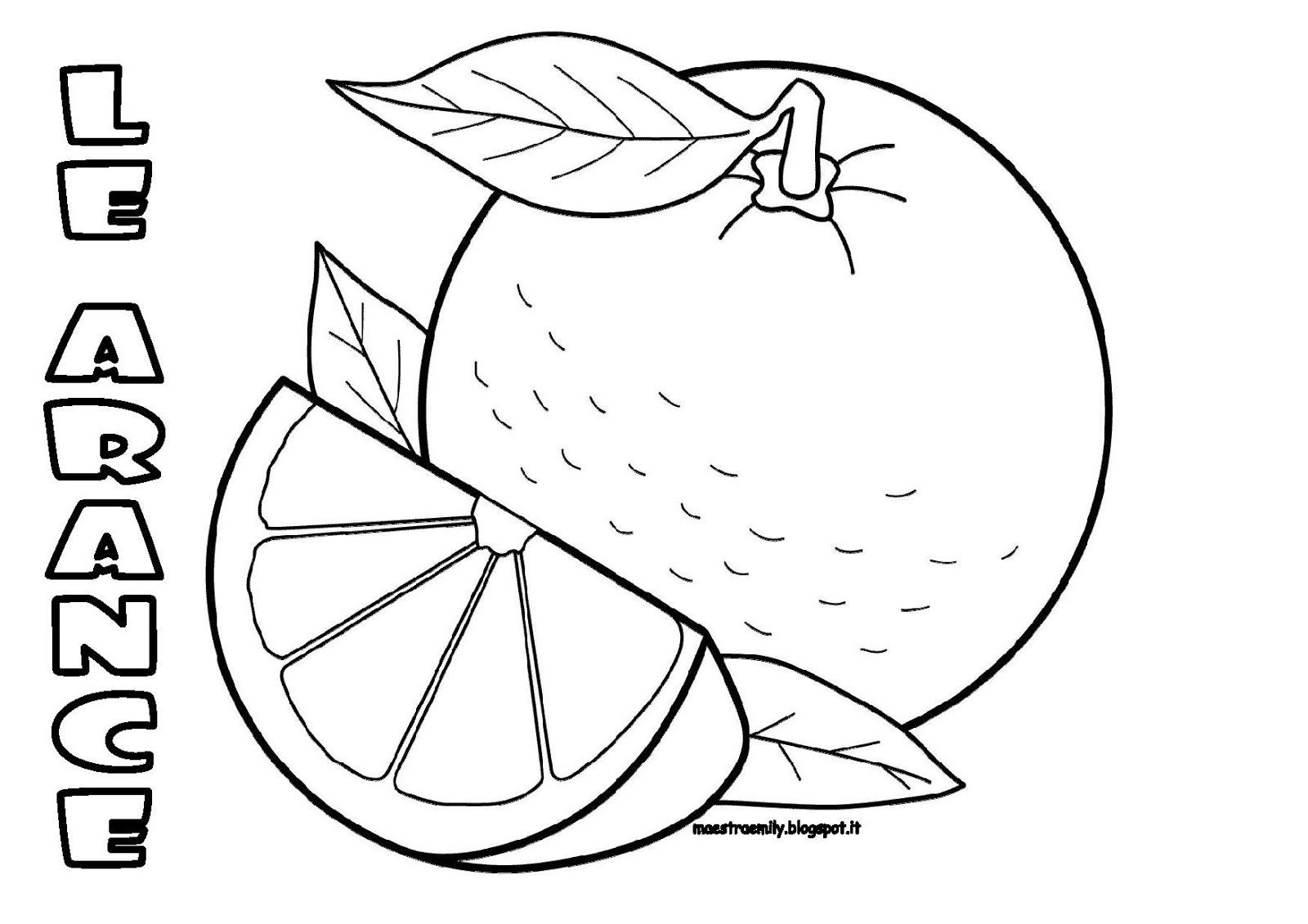 Limoni Disegno: MaestraEmily: ARANCE... DA COLORARE