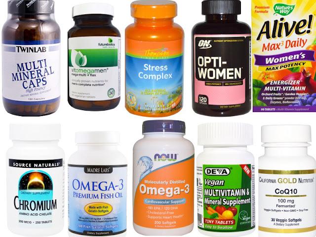 Вітаміни, мінерали та добавоки з iherb