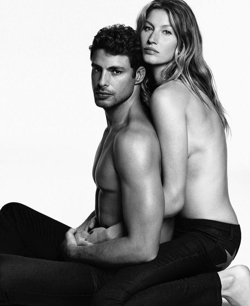 Gisele goes sans top for the Givenchy Jeans Campaign 2016