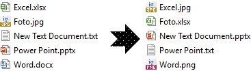 Merubah ekstensi atau format file di Windows