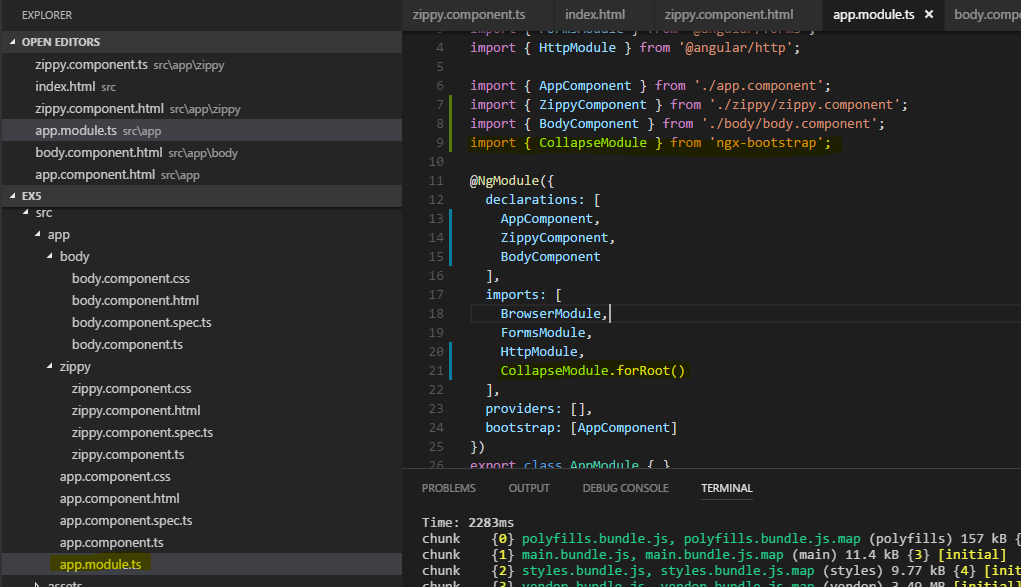 Altair CA: Angular2-cli and Bootstrap-3/4 setup